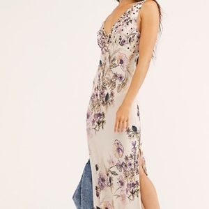 Free People Never Too Late Maxi Dress Ivory